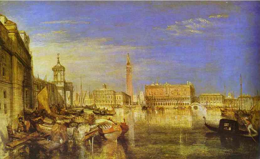 Bridge Of Signs Ducal Palace And Custom House Venice Canaletti Painting 1833 | Joseph Mallord William Turner | Oil Painting