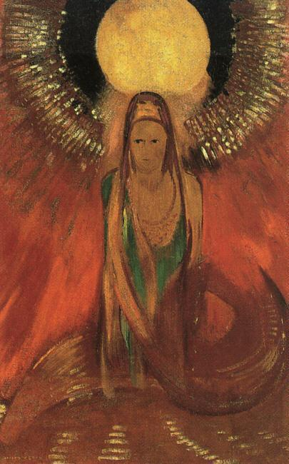 The Flame (aka Goddess of Fire) 1896 | Odilon Redon | Oil Painting
