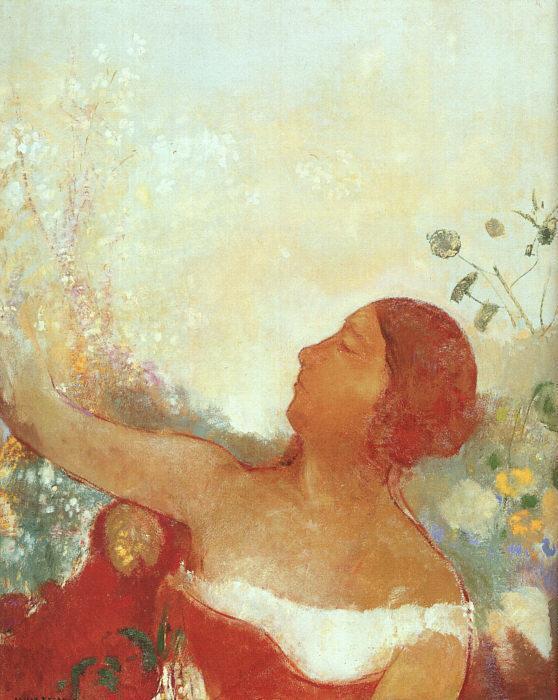 The Predistined Child (aka Ophelia) | Odilon Redon | Oil Painting