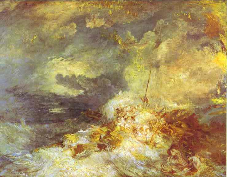 Fire At Sea 1835 | Joseph Mallord William Turner | Oil Painting