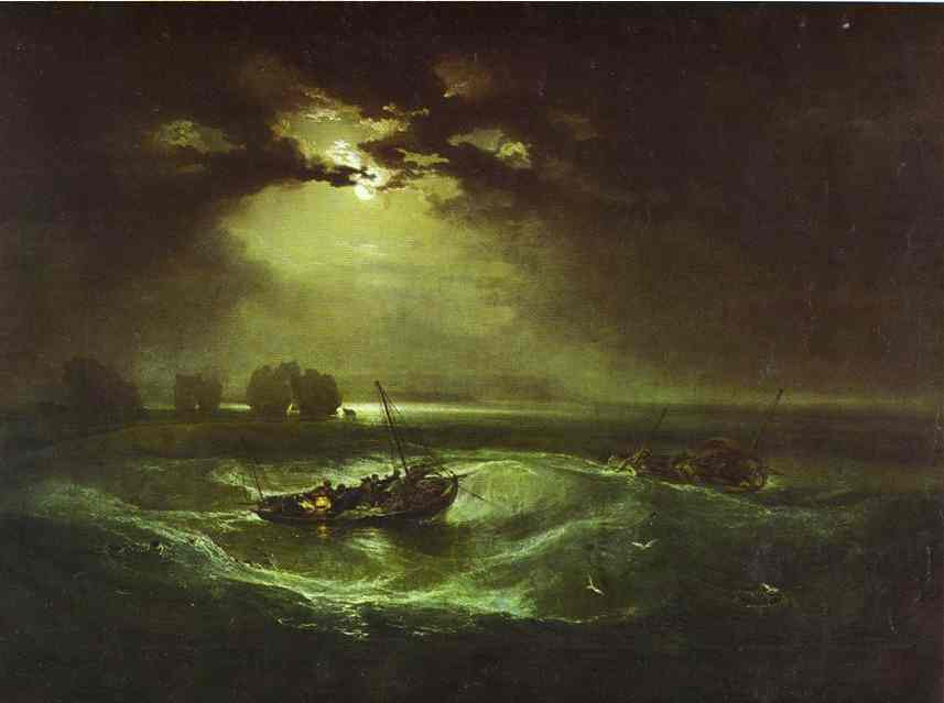 Fishermen At Sea 1796 | Joseph Mallord William Turner | Oil Painting