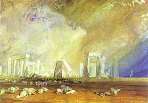 Stonehenge 1825-1828   Joseph Mallord William Turner   Oil Painting