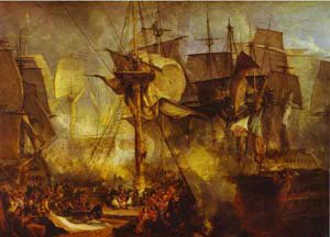The Battle Of Trafalgr 1806-1808   Joseph Mallord William Turner   Oil Painting