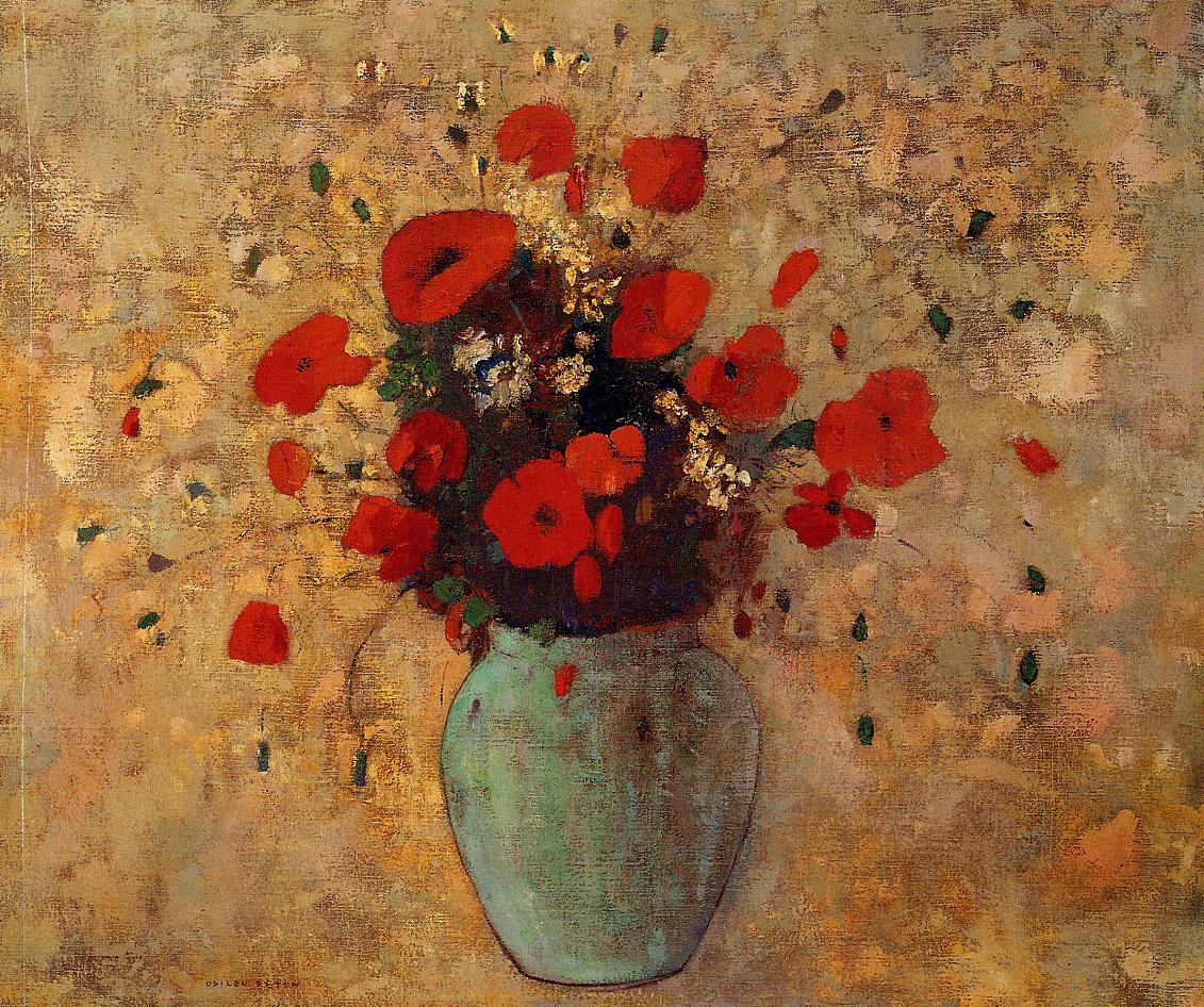 Vase of Poppies 1905-1906 | Odilon Redon | Oil Painting