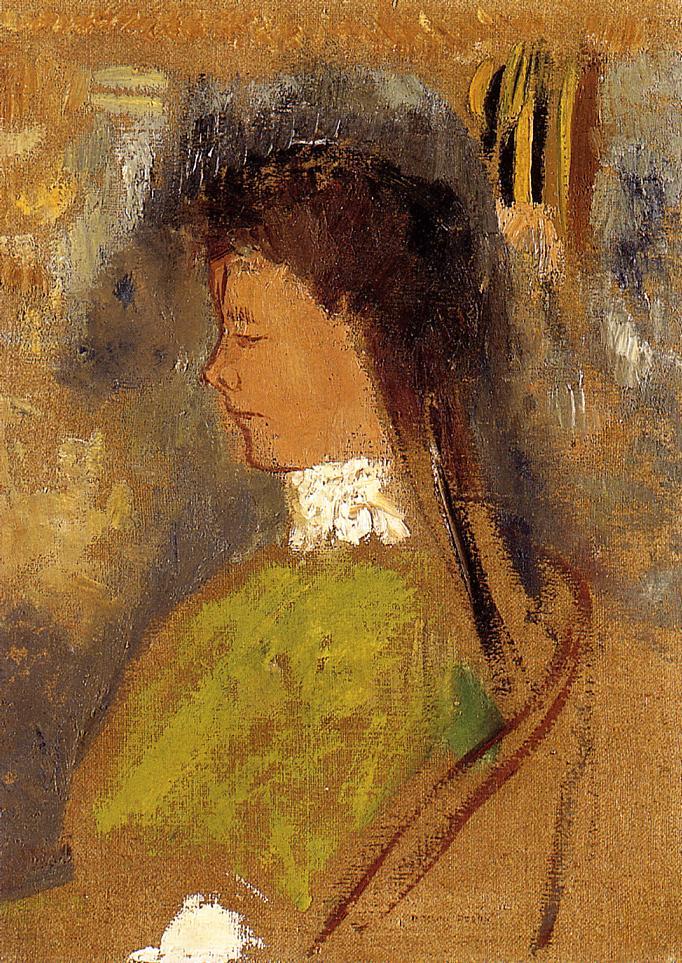 Violette Haymann 1910 | Odilon Redon | Oil Painting