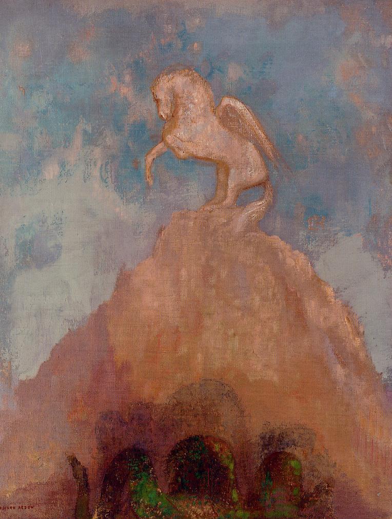 White Pegasus | Odilon Redon | Oil Painting