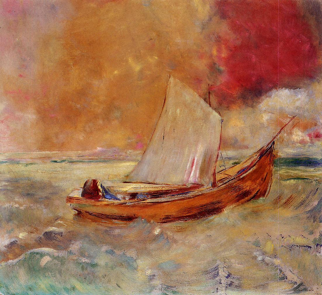 Yellow Boat 1910 | Odilon Redon | Oil Painting