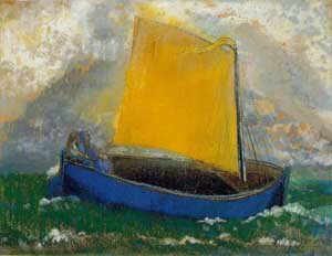 Mystical Boat | Odilon Redon | Oil Painting