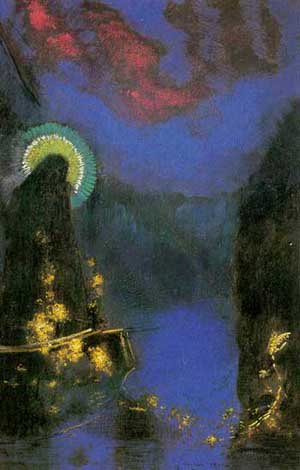 Virgin with Corona | Odilon Redon | Oil Painting