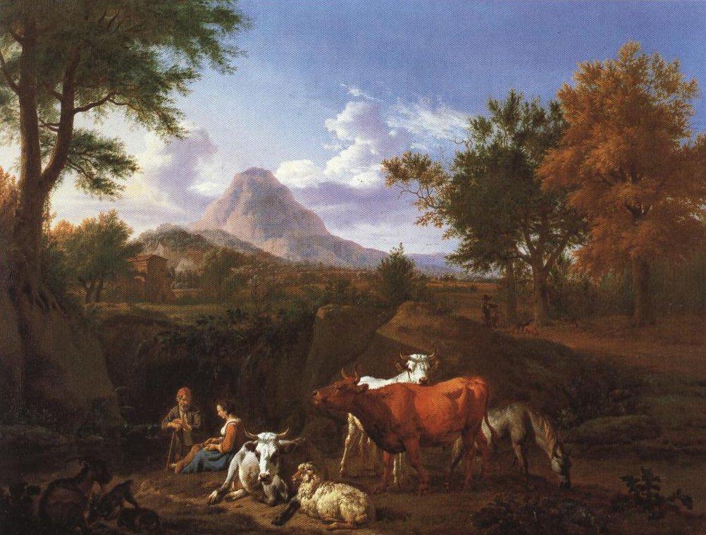 Pastoral Scene | Adriaen Van De Velde | Oil Painting