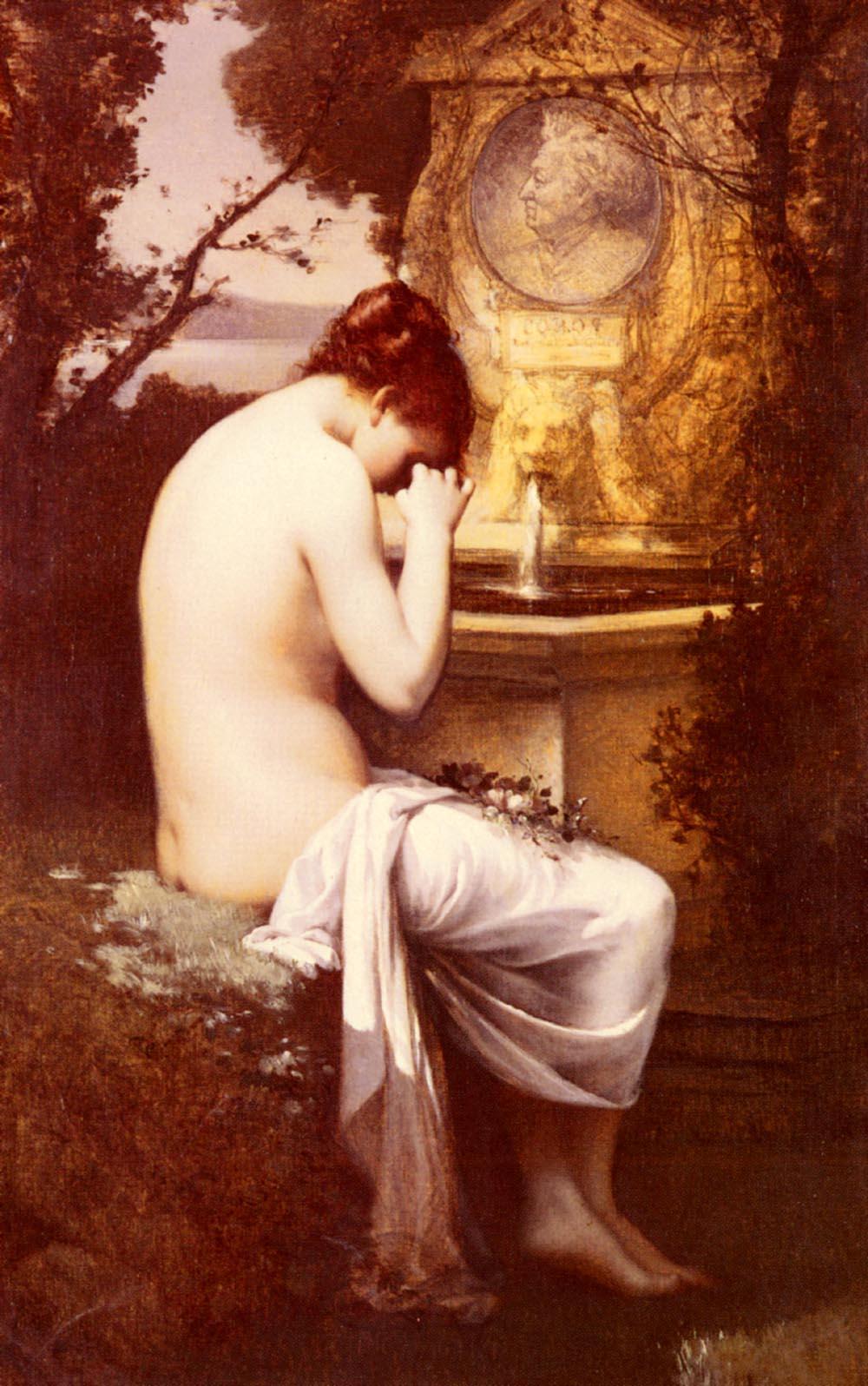 Nymphe A Corot   Joseph Nicolas Hippolyte Aussandon   Oil Painting
