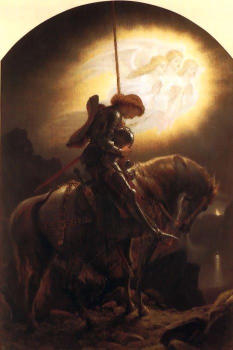 Sir Galahad | Joseph Noel Paton | Oil Painting