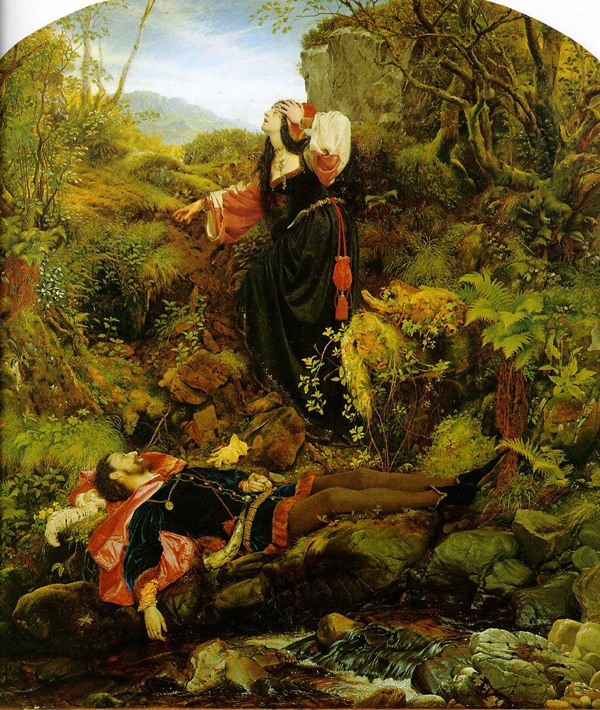 The Bluidie Tryst   Joseph Noel Paton   Oil Painting