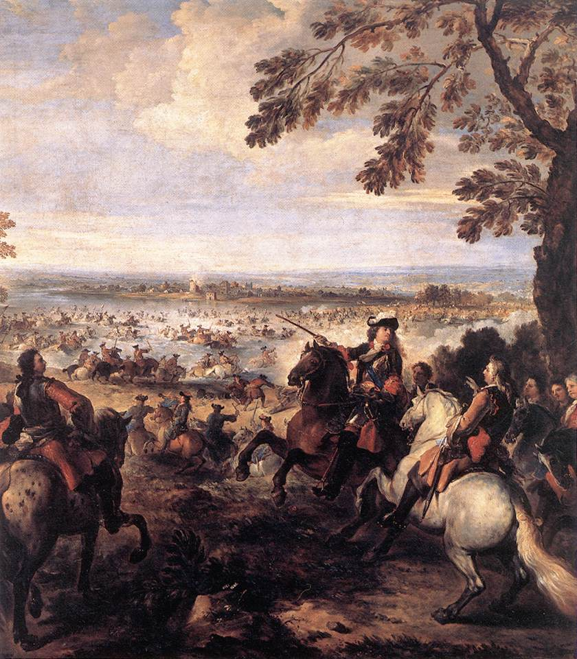 The Crossing of the Rhine by the Army of Louis XIV 1672-99 | Joseph Parrocel | Oil Painting