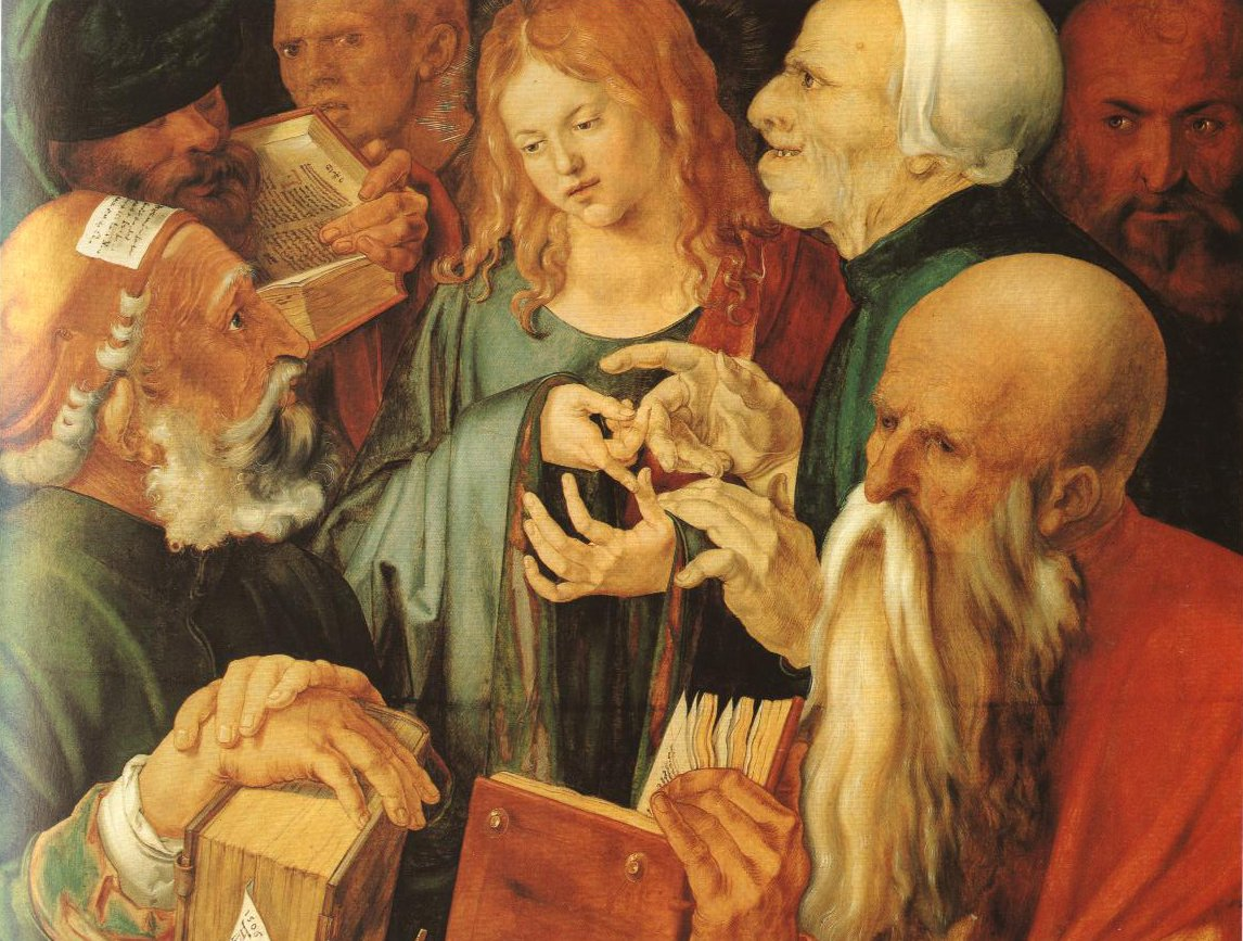 Jesus Among The Doctors | Albrecht Durer | Oil Painting