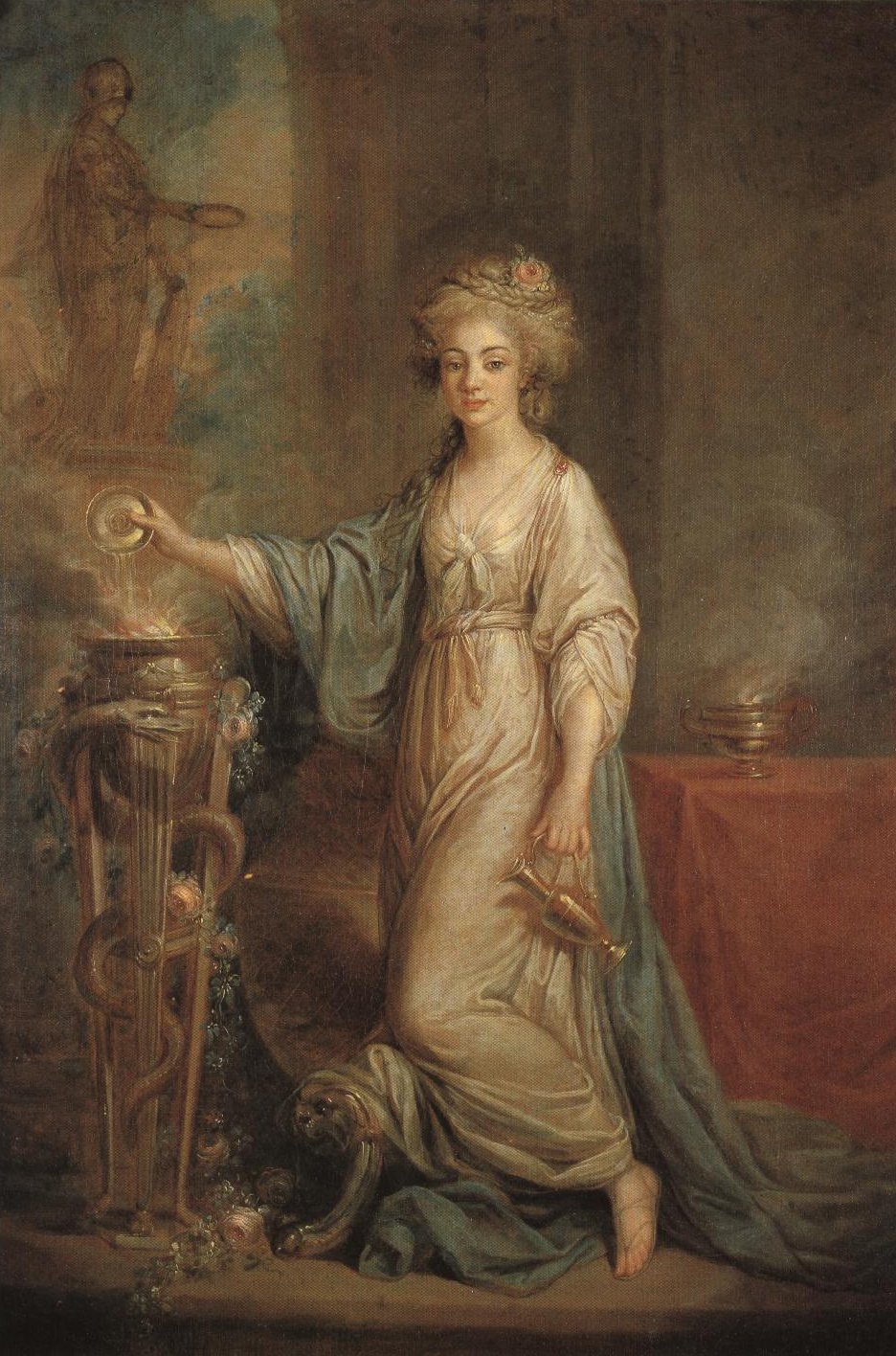 Portrait Of A Young Lady As A Vestal Virgin | Angelica Kauffmann | Oil Painting