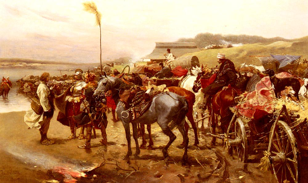 On The Move   Joseph Von Brandt   Oil Painting