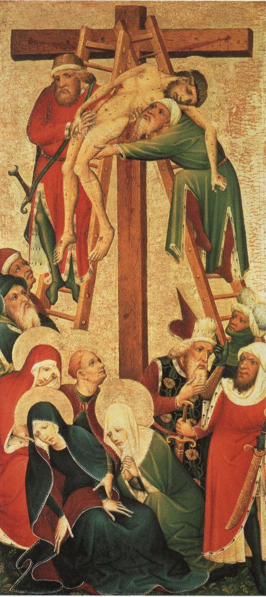 The Descent From The Cross | Anonymous German Master Circa 1420 | Oil Painting