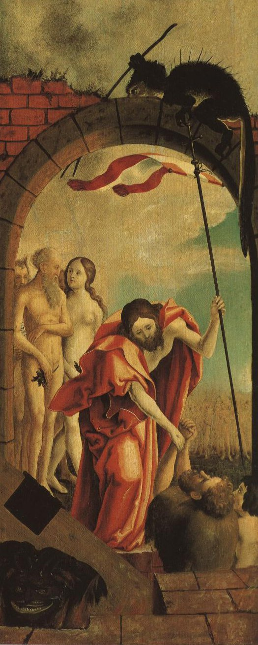 Christ In Limbo | Anonymous German Master Influenced By Martin Schaffner | Oil Painting