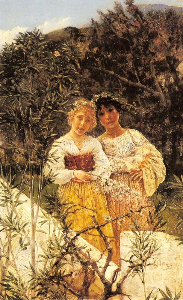 In The Garden | Jose Villegas Cordero | Oil Painting