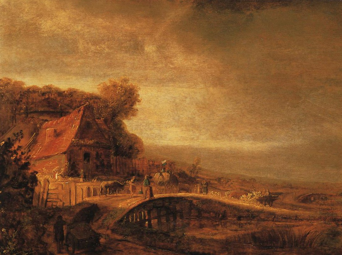 Landscape With A Farm And A Bridge | Attributed To Covert Flinck | Oil Painting
