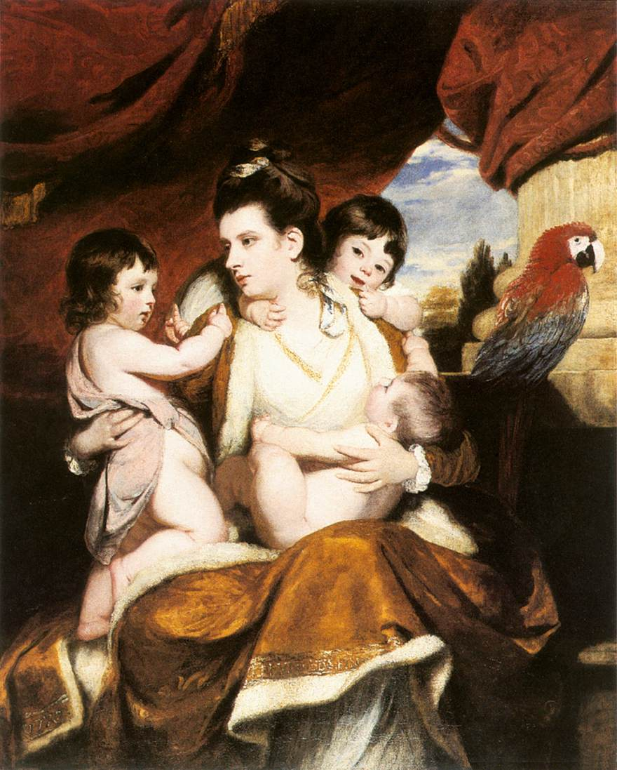 Lady Cockburn and Her 3 Eldest Sons | Joshua Reynolds | Oil Painting