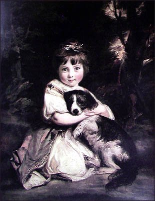 Love me love my dog | Joshua Reynolds | Oil Painting