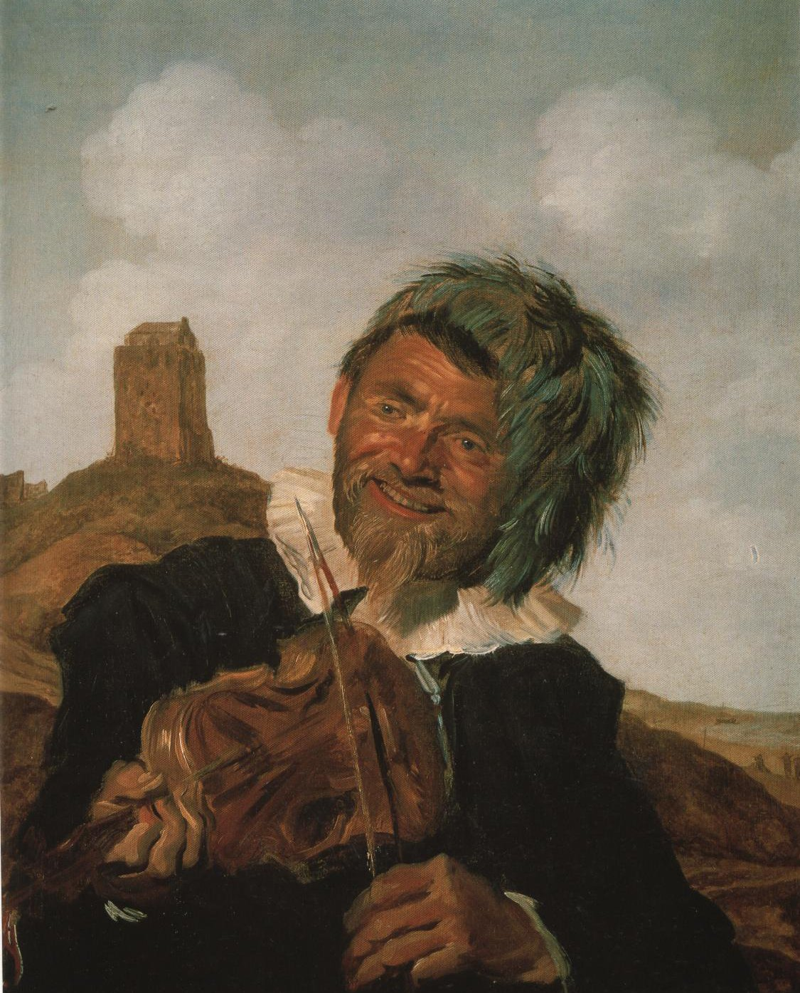 Fisherman Playing The Violin | Attributed To Frans Hals | Oil Painting