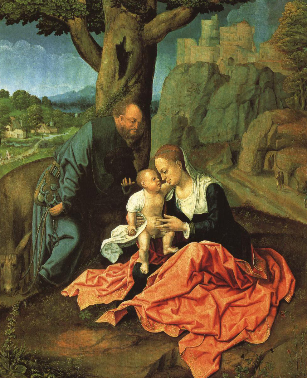 The Rest On The Flight Into Egypt | Bernaert Van Orley | Oil Painting
