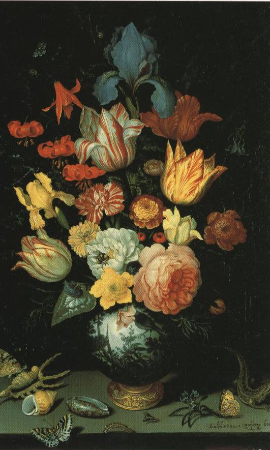 Flowers In A Chinese Vase | Balthasar Van Der Ast | Oil Painting