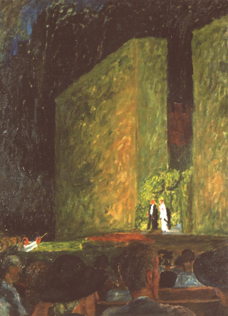 The Forest Opera In Sopot | Jozef Czapski | Oil Painting