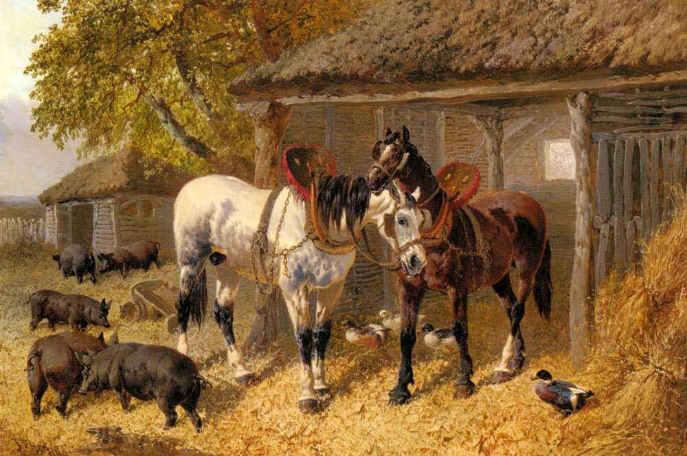 The Farmyard2 | Jr John Frederick Herring | Oil Painting