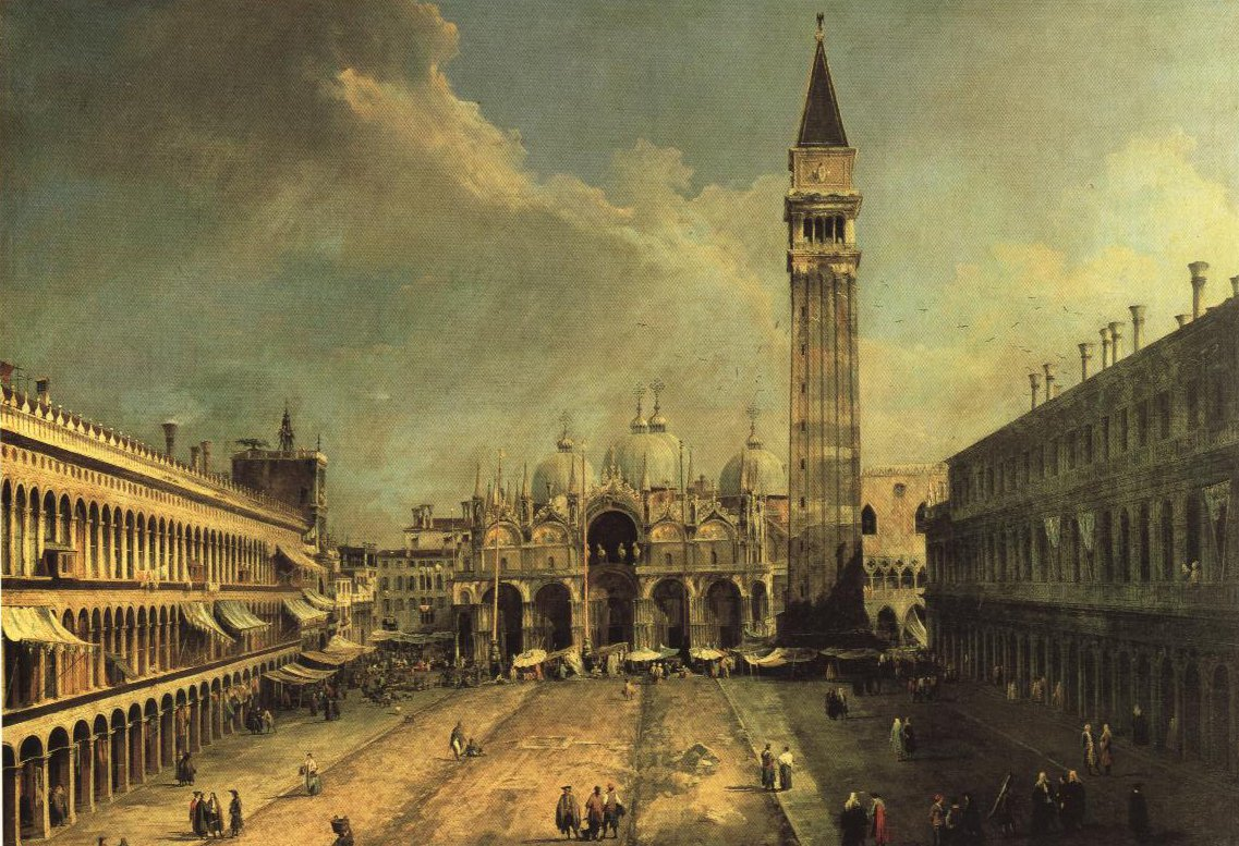 Pizza San Marco In Venice   Canaletto   Oil Painting