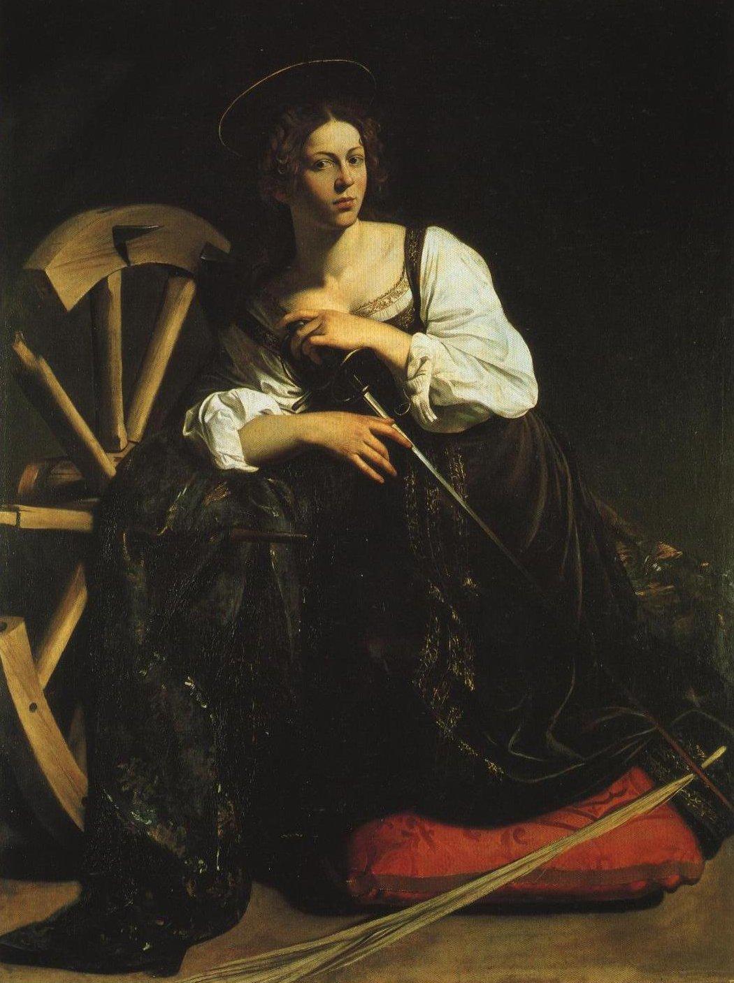 St Catherine Of Alexandria   Caravaggio   Oil Painting