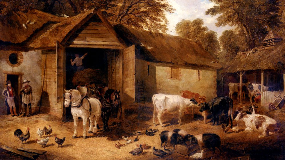 The Farmyard3 | Jr John Frederick Herring | Oil Painting