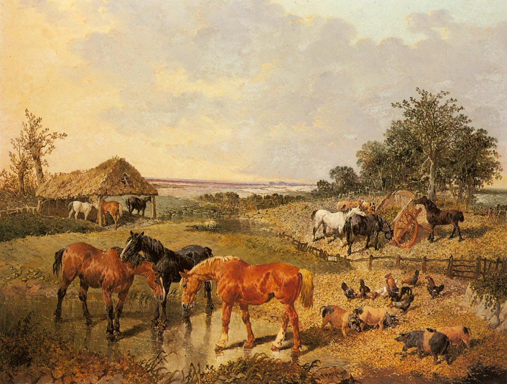 Country Life | Jr John Frederick Herring | Oil Painting