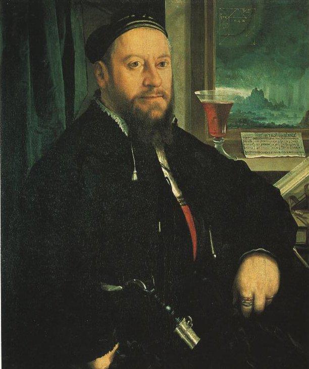 Portrait Of Matthaus Schwarz | Christoph Amberger | Oil Painting