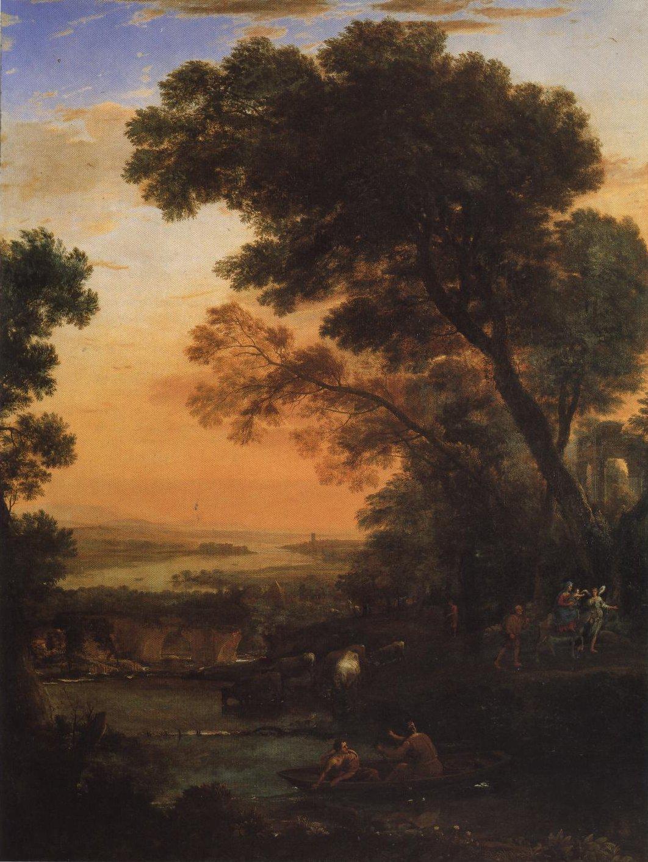 Pastoral Landscape With A Flight Into Egypt | Claude Lorrain | Oil Painting