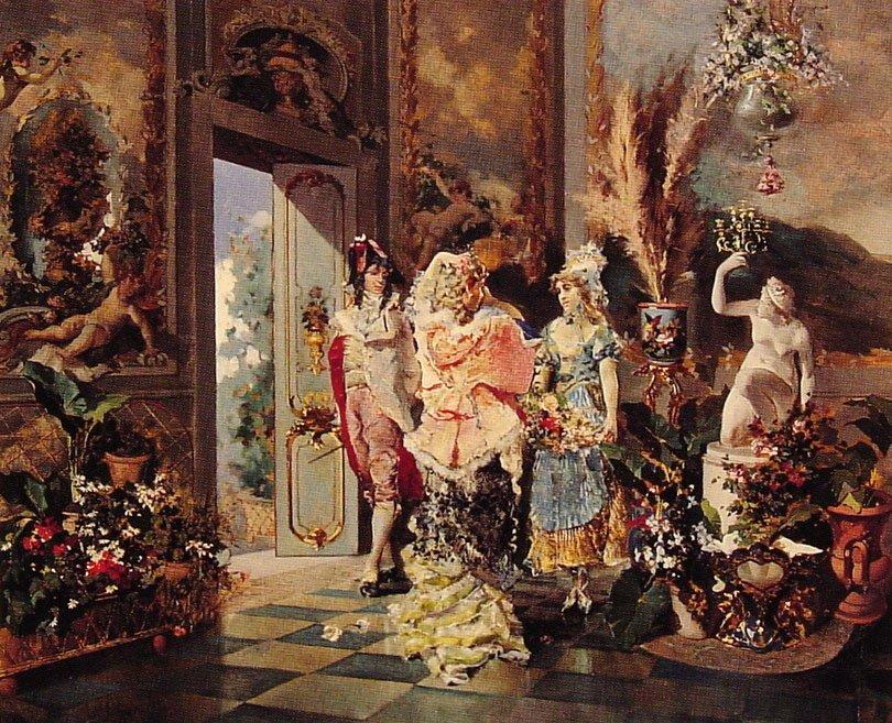 Rococo Manners | Juan Antonio Gonzalez | Oil Painting