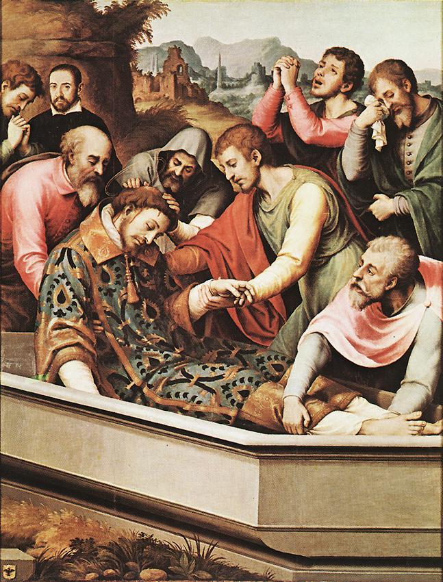 The Entombment Of St Stephen Martyr | Juan De Juanes | Oil Painting