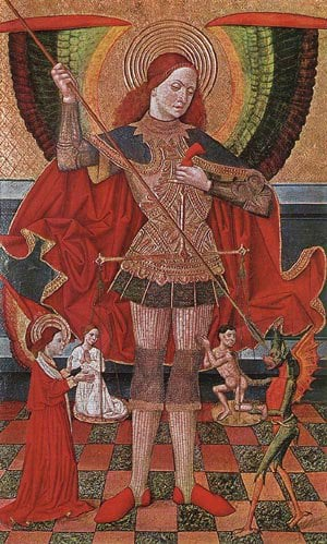 The Archangel Michael 1490 | Juan De La Abadia | Oil Painting