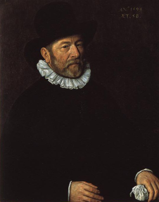 Portrait Of A Man Aged Fifty Eight In 1594   Cornelius Ketel   Oil Painting