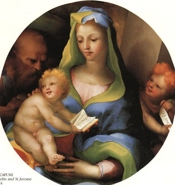 Madonna And Child With St John And St Jerome | Domenico Beccafumi | Oil Painting