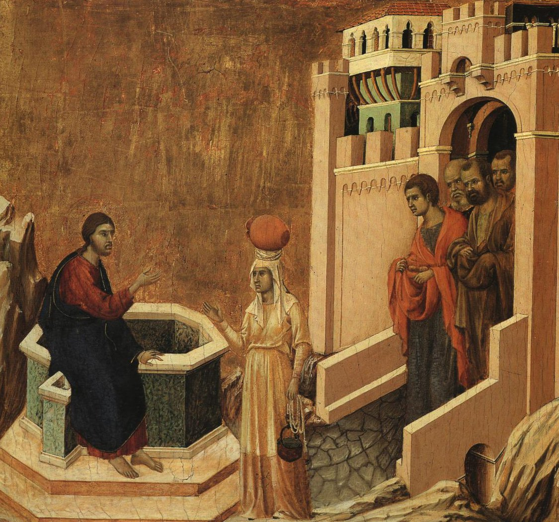 Christ And The Samaritan Woman | Duccio | Oil Painting