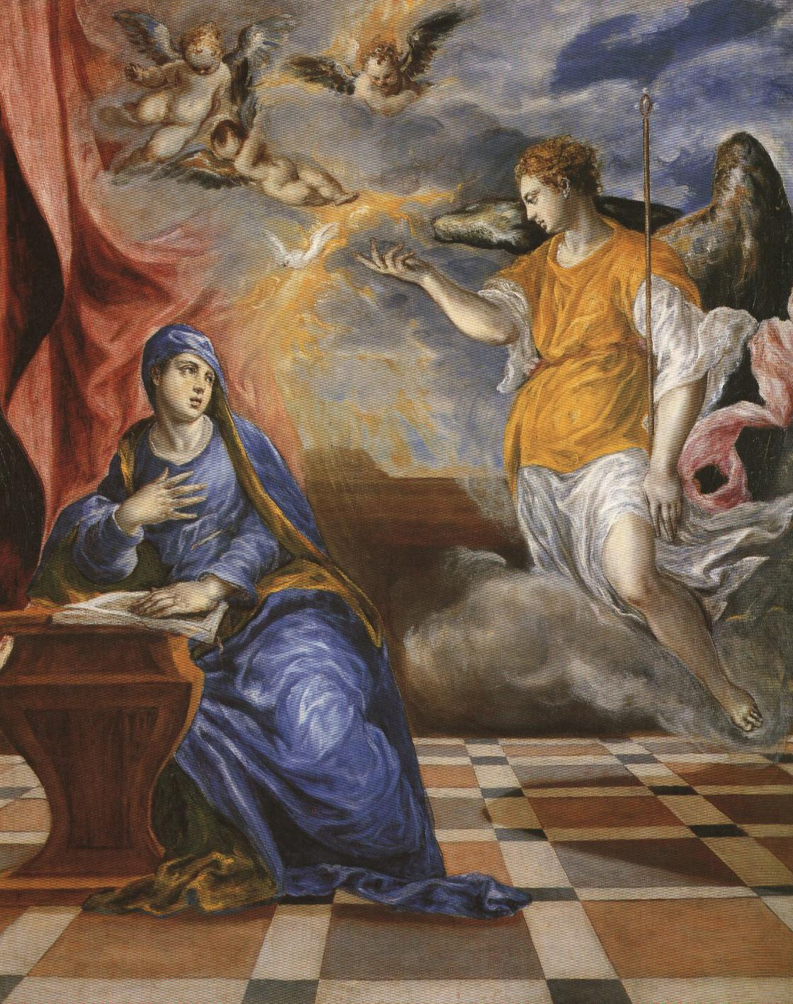 Italian Annunciation | El Greco | Oil Painting