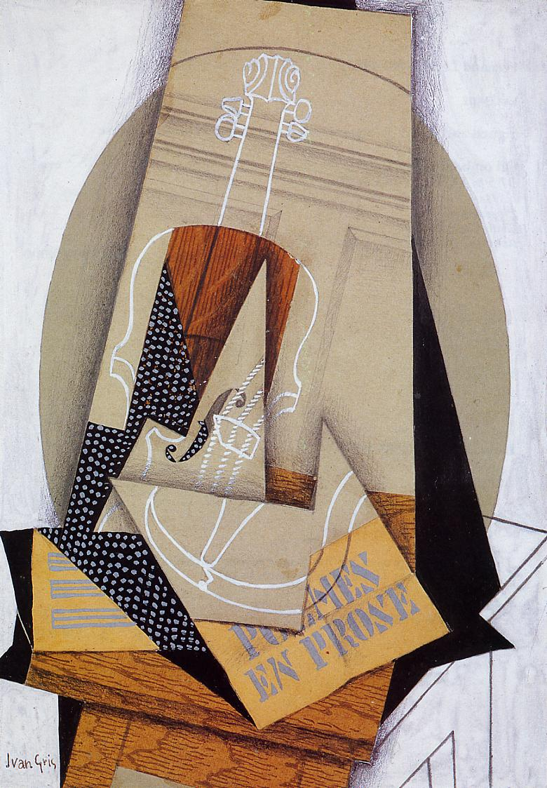 Composition with Violin 1915 | Juan Gris | Oil Painting