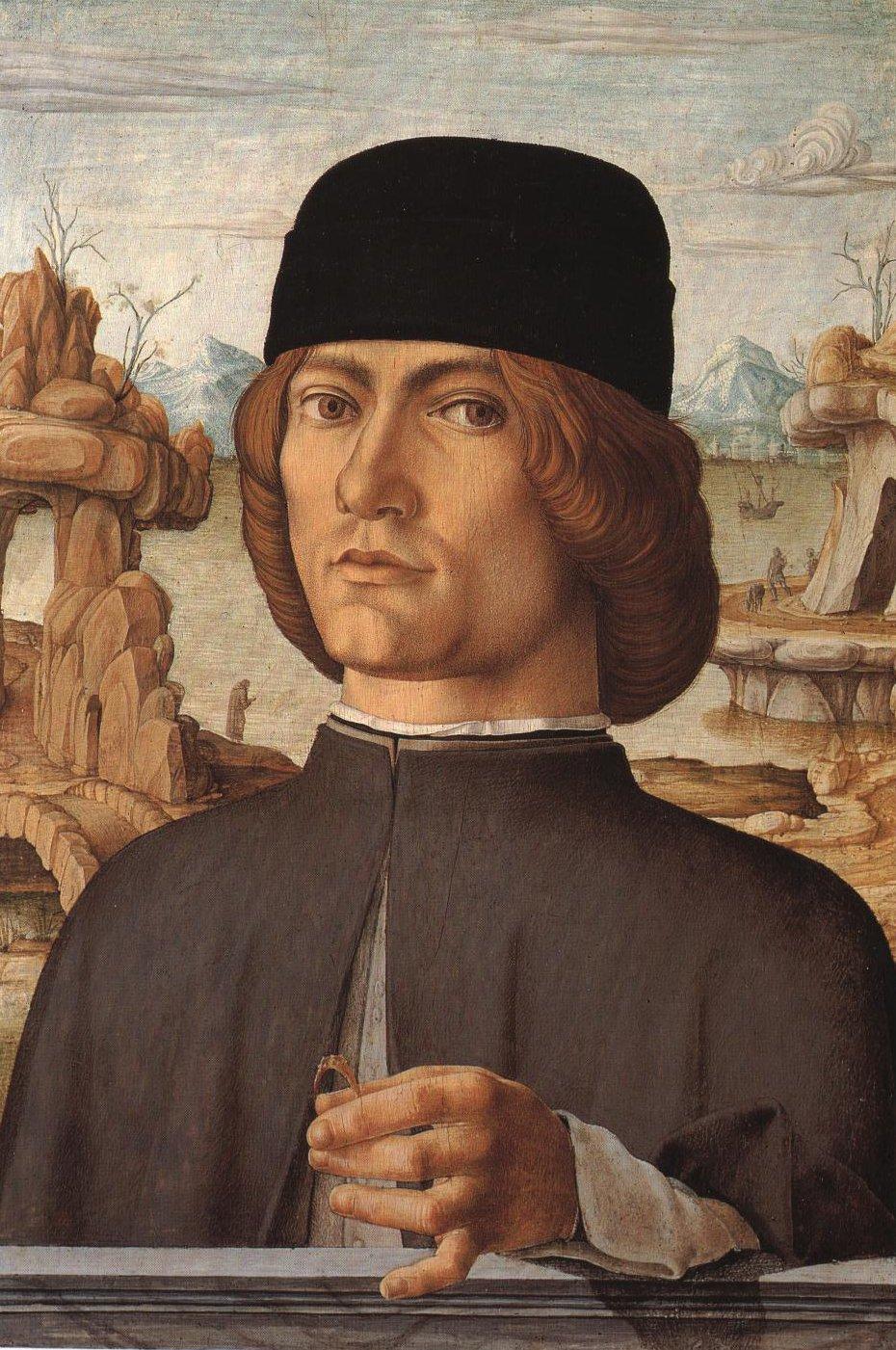 Portrait Of A Man   Francesco Del Cossa   Oil Painting