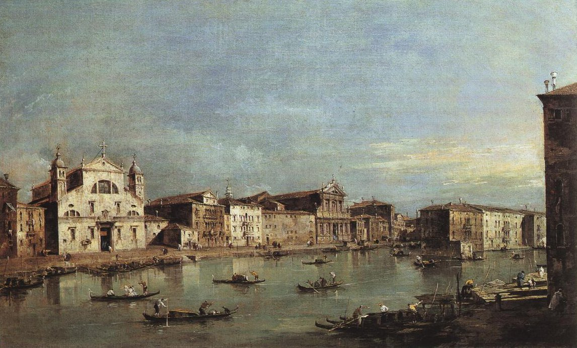 Canal Grande With Sta Lucia And St Maria Di Nazareth | Francesco Guardi | Oil Painting