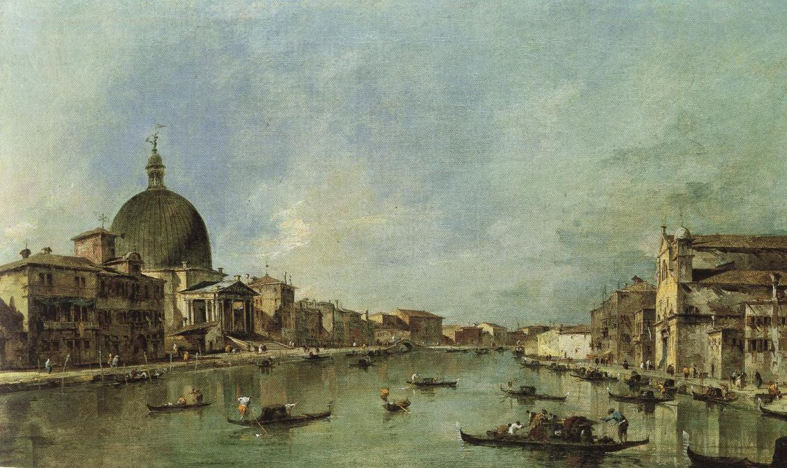 Canal Grande With S Simeone Piccolo And Sta Lucia | Francesco Guardi | Oil Painting