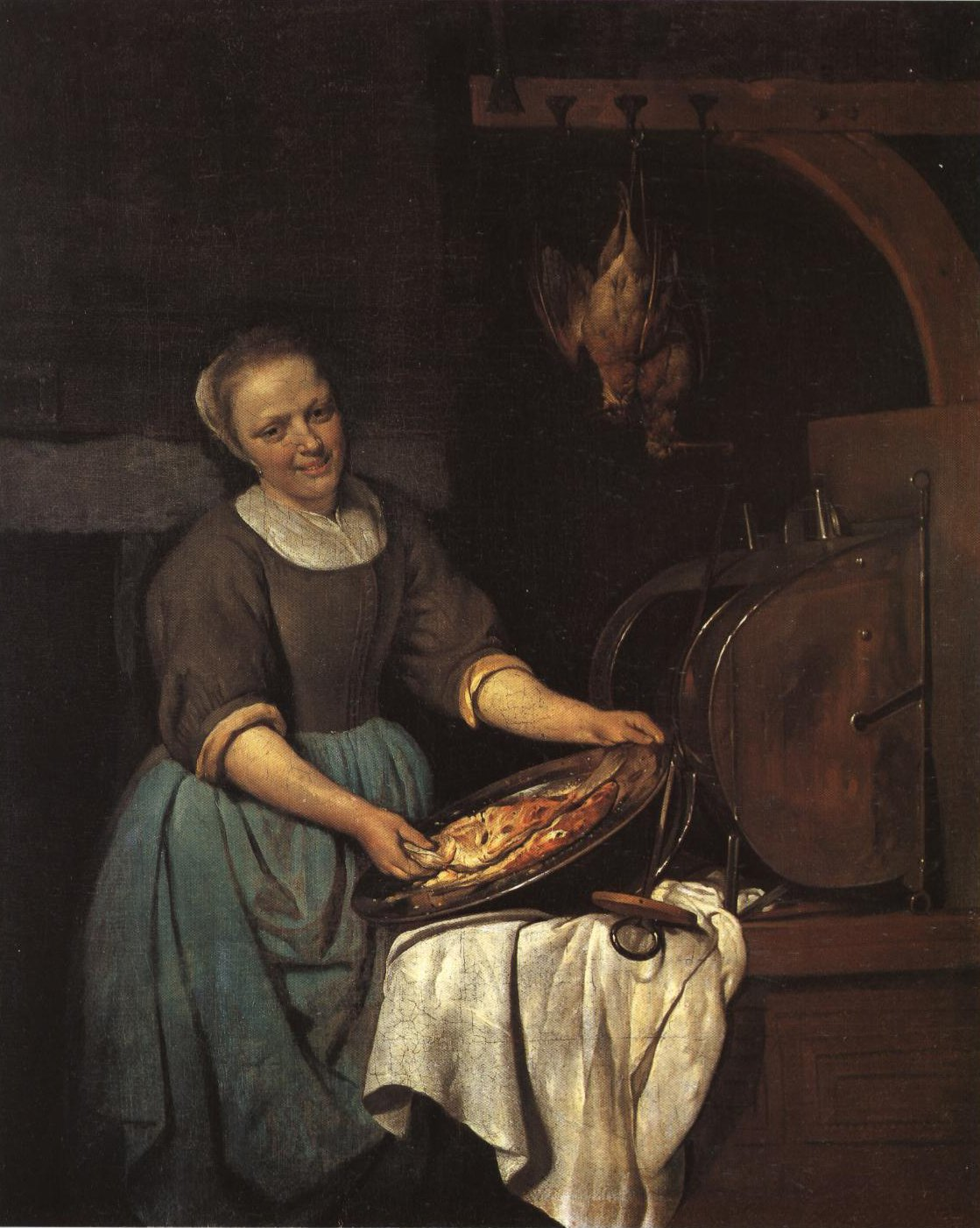 The Cook   Gabriel Metsu   Oil Painting